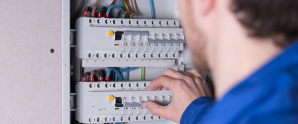 Electrical panel being tested